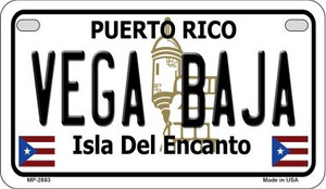 Vega Baja Puerto Rico State Wholesale Motorcycle License Plate MP-2883