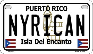 Nyrican Puerto Rico State Wholesale Motorcycle License Plate MP-4342