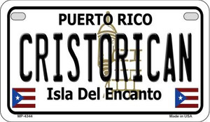 Cristorican Puerto Rico State Wholesale Motorcycle License Plate MP-4344
