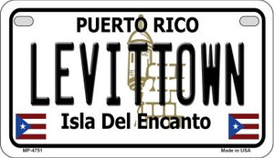 Levittown Puerto Rico State Wholesale Motorcycle License Plate MP-4751