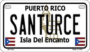 Santurce Puerto Rico State Wholesale Motorcycle License Plate MP-4752