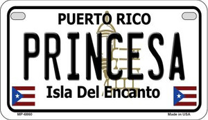 Princesa Puerto Rico State Wholesale Motorcycle License Plate MP-6860