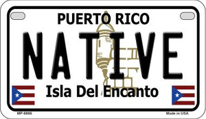 Native Puerto Rico State Wholesale Motorcycle License Plate MP-6866