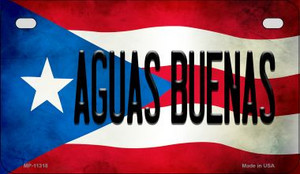 Aguas Buenas Puerto Rico State Flag License Plate Wholesale Motorcycle License Plate MP-11318