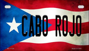 Cabo Rojo Puerto Rico State Flag License Plate Wholesale Motorcycle License Plate MP-11326