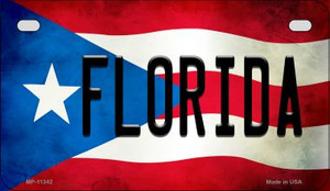 Florida Puerto Rico State Flag License Plate Wholesale Motorcycle License Plate MP-11342