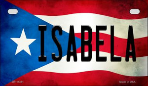Isabela Puerto Rico State Flag License Plate Wholesale Motorcycle License Plate MP-11351