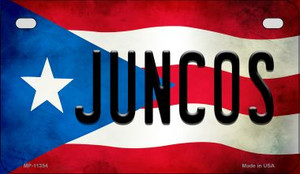 Juncos Puerto Rico State Flag License Plate Wholesale Motorcycle License Plate MP-11354
