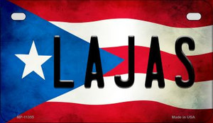 Lajas Puerto Rico State Flag License Plate Wholesale Motorcycle License Plate MP-11355
