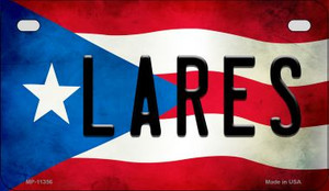 Lares Puerto Rico State Flag License Plate Wholesale Motorcycle License Plate MP-11356