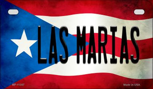 Las Marias Puerto Rico State Flag License Plate Wholesale Motorcycle License Plate MP-11357