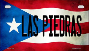 Las Piedras Puerto Rico State Flag License Plate Wholesale Motorcycle License Plate MP-11358