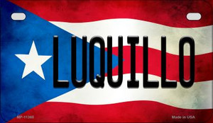 Luquillo Puerto Rico State Flag License Plate Wholesale Motorcycle License Plate MP-11360