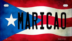 Maricao Puerto Rico State Flag License Plate Wholesale Motorcycle License Plate MP-11362