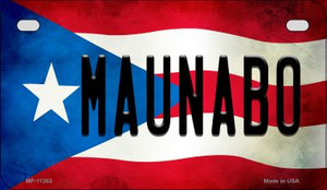 Maunabo Puerto Rico State Flag License Plate Wholesale Motorcycle License Plate MP-11363