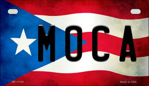 Moca Puerto Rico State Flag License Plate Wholesale Motorcycle License Plate MP-11365