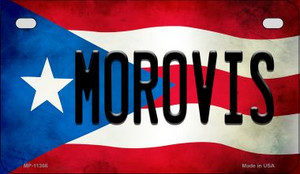 Morovis Puerto Rico State Flag License Plate Wholesale Motorcycle License Plate MP-11366