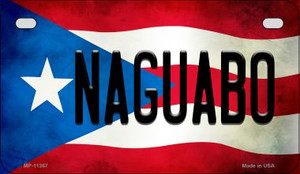 Naguabo Puerto Rico State Flag License Plate Wholesale Motorcycle License Plate MP-11367