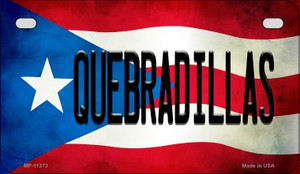 Quebradillas Puerto Rico State Flag License Plate Wholesale Motorcycle License Plate MP-11373