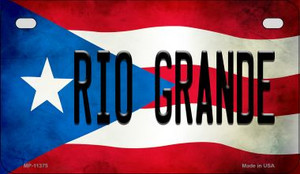 Rio Grande Puerto Rico State Flag License Plate Wholesale Motorcycle License Plate MP-11375