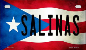 Salinas Puerto Rico State Flag License Plate Wholesale Motorcycle License Plate MP-11377