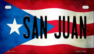 San Juan Puerto Rico State Flag License Plate Wholesale Motorcycle License Plate MP-11379