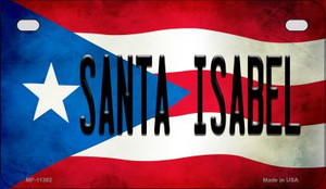 Santa Isabela Puerto Rico State Flag License Plate Wholesale Motorcycle License Plate MP-11382