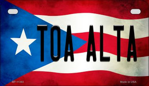 Toa Alta Puerto Rico State Flag License Plate Wholesale Motorcycle License Plate MP-11383