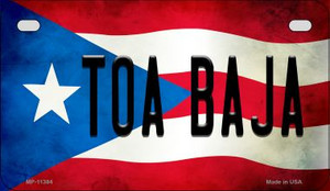 Toa Baja Puerto Rico State Flag License Plate Wholesale Motorcycle License Plate MP-11384