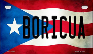 Boricua Puerto Rico State Flag License Plate Wholesale Motorcycle License Plate MP-11393
