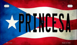 Princesa Puerto Rico State Flag License Plate Wholesale Motorcycle License Plate MP-11402