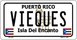 Vieques Puerto Rico State Wholesale Bicycle License Plate BP-2884