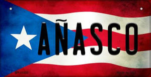 Anasco Puerto Rico State Flag License Plate Wholesale Bicycle License Plate BP-11320