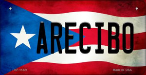 Arecibo Puerto Rico State Flag License Plate Wholesale Bicycle License Plate BP-11321