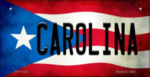 Carolina Puerto Rico State Flag License Plate Wholesale Bicycle License Plate BP-11330