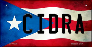 Cidra Puerto Rico State Flag License Plate Wholesale Bicycle License Plate BP-11335
