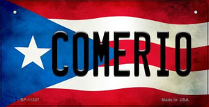 Comerio Puerto Rico State Flag License Plate Wholesale Bicycle License Plate BP-11337