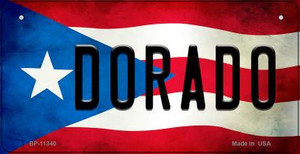 Dorado Puerto Rico State Flag License Plate Wholesale Bicycle License Plate BP-11340