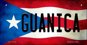 Guanica Puerto Rico State Flag License Plate Wholesale Bicycle License Plate BP-11343