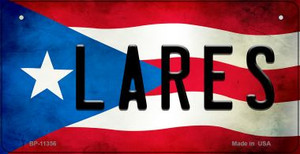 Lares Puerto Rico State Flag License Plate Wholesale Bicycle License Plate BP-11356