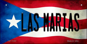 Las Marias Puerto Rico State Flag License Plate Wholesale Bicycle License Plate BP-11357