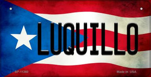 Luquillo Puerto Rico State Flag License Plate Wholesale Bicycle License Plate BP-11360