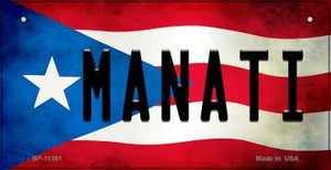 Manati Puerto Rico State Flag License Plate Wholesale Bicycle License Plate BP-11361