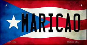 Maricao Puerto Rico State Flag License Plate Wholesale Bicycle License Plate BP-11362