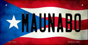 Maunabo Puerto Rico State Flag License Plate Wholesale Bicycle License Plate BP-11363