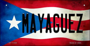 Mayaguez Puerto Rico State Flag License Plate Wholesale Bicycle License Plate BP-11364