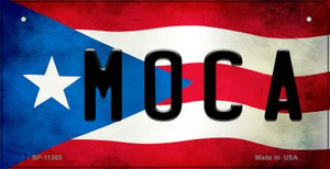 Moca Puerto Rico State Flag License Plate Wholesale Bicycle License Plate BP-11365
