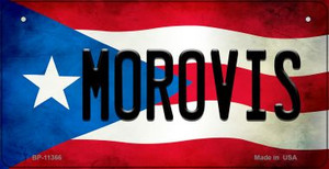 Morovis Puerto Rico State Flag License Plate Wholesale Bicycle License Plate BP-11366