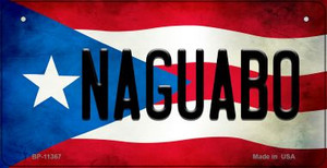 Naguabo Puerto Rico State Flag License Plate Wholesale Bicycle License Plate BP-11367
