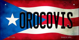 Orocovis Puerto Rico State Flag License Plate Wholesale Bicycle License Plate BP-11369